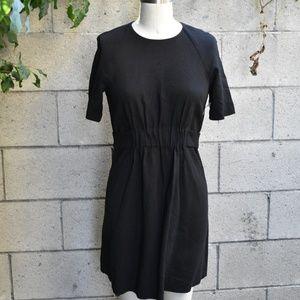 A.L.C. black cinched waist dress w snap back 8